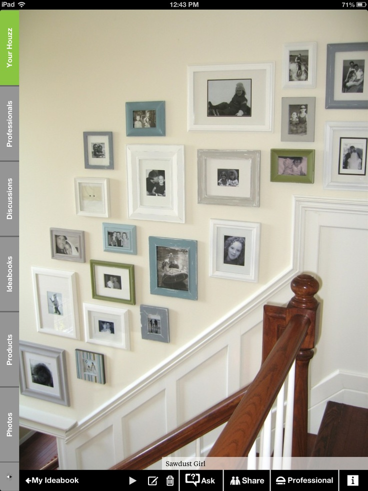 Like photos on the staircase