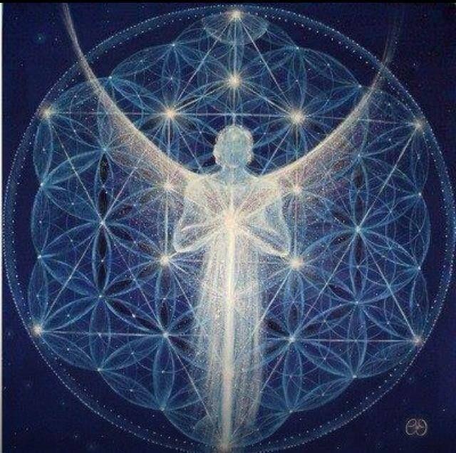 Kvet života S Duchovnou Byto ťou Mystical Art