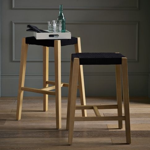 Modern Woven Shaker Bar Stool + Counter Stool | west elm- Our Kitchen bar stools! | For the Home ...