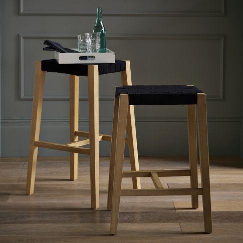 Modern Woven Shaker Bar Stool + Counter Stool   west elm- Our Kitchen bar stools!