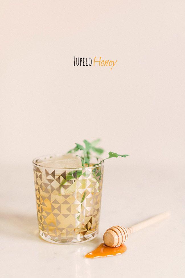 The Tupelo Honey: Honey bourbon, club soda, lime juice, honey, cilantro, garnish