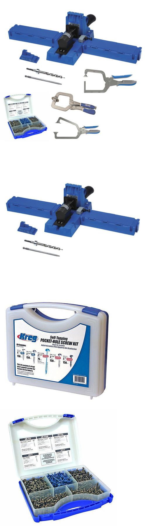 Jigs and Templates 179686: Kreg K5 Pocket-Hole Jig W Screw Kit And 3 Piece Clamp Set -> BUY IT NOW ONLY: $229.99 on eBay!