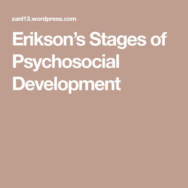 erikson psychosocial development theory pdf