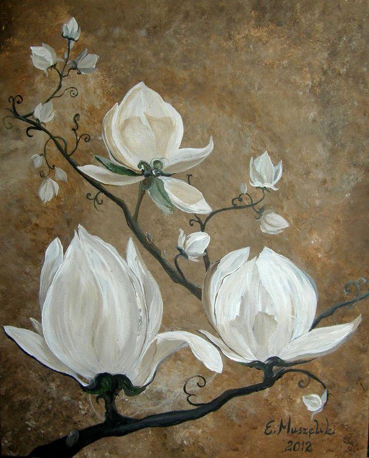 magnolie - obraz na płótnie artist: Edyta Muszelik