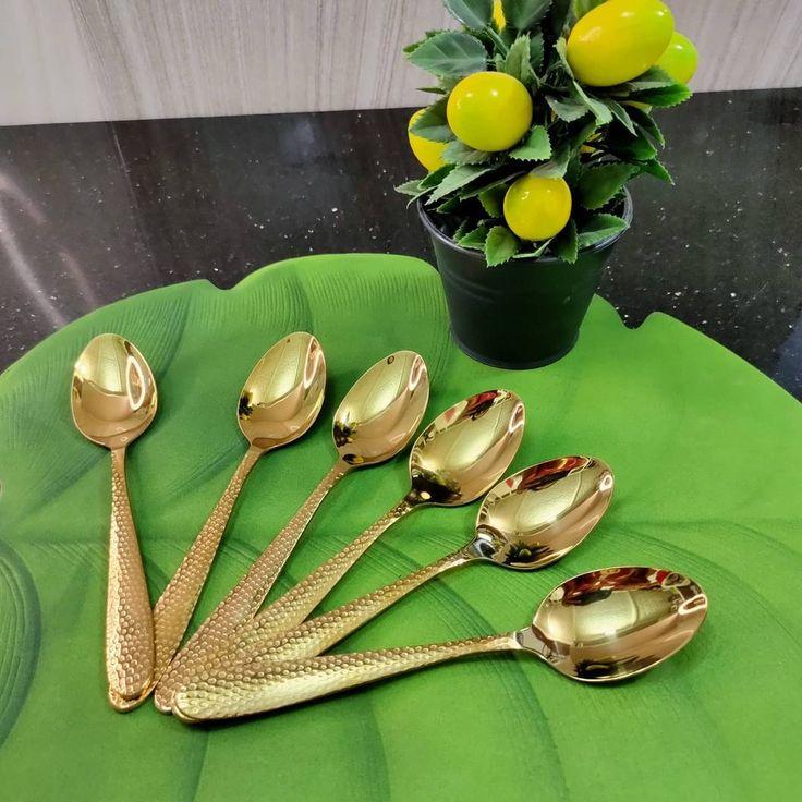 بيت العائلة On Instagram سيت ملاعق طعام ست قطع من السلستيل الوان ثابته السعر ٥ الاف دينار يتوفر توصيل لكافة المحاف In 2021 Tableware Measuring Cups Measuring Spoons