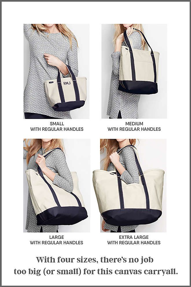 39a6bd8ae Open or Zip Top Natural Canvas Tote Bag from Lands' End | Beach ...