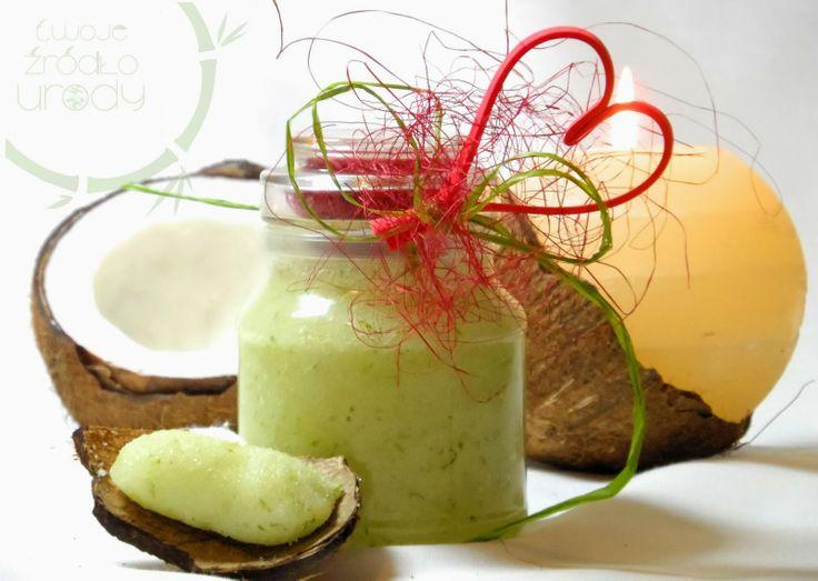 kokosowo-limonkowy peeling cukrowy