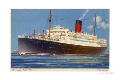 Cunard Line Steamship RMS 'Franconia, C1923-C1939 Giclee Print by Kenneth Denton Shoesmith at AllPosters.com