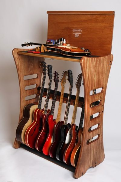 I would like to make a guitar storage unit that's functional as well.