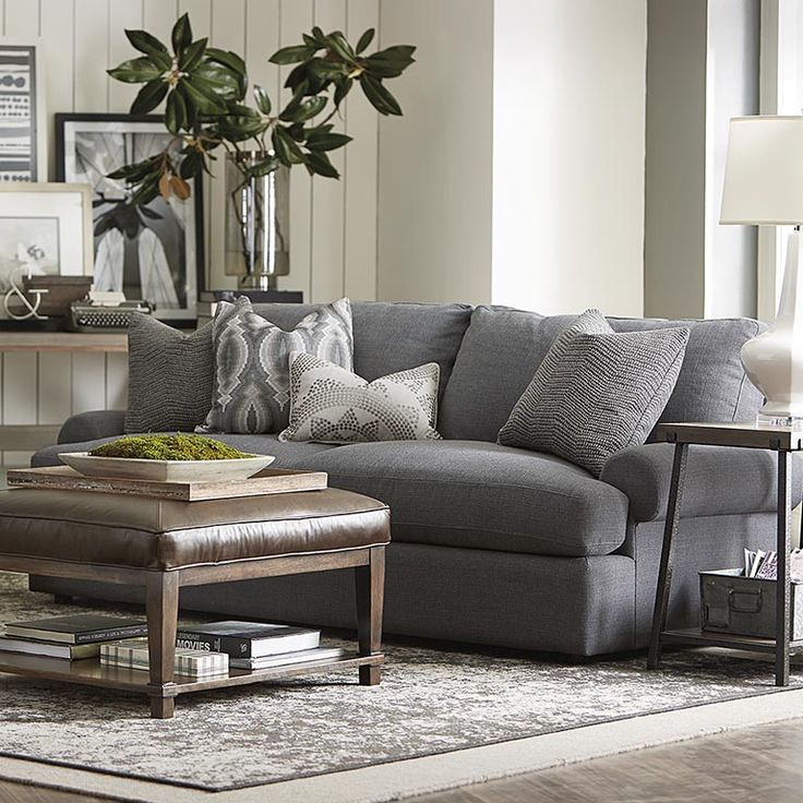 Sutton Casual Comfort Sofa | Living Room | Bassett Furniture