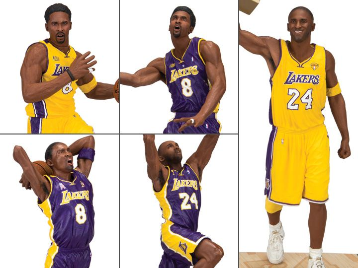 NBA Kobe Bryant Championship Figure Set of 5 (2000, 2001, 2002, 2009 & 2010)