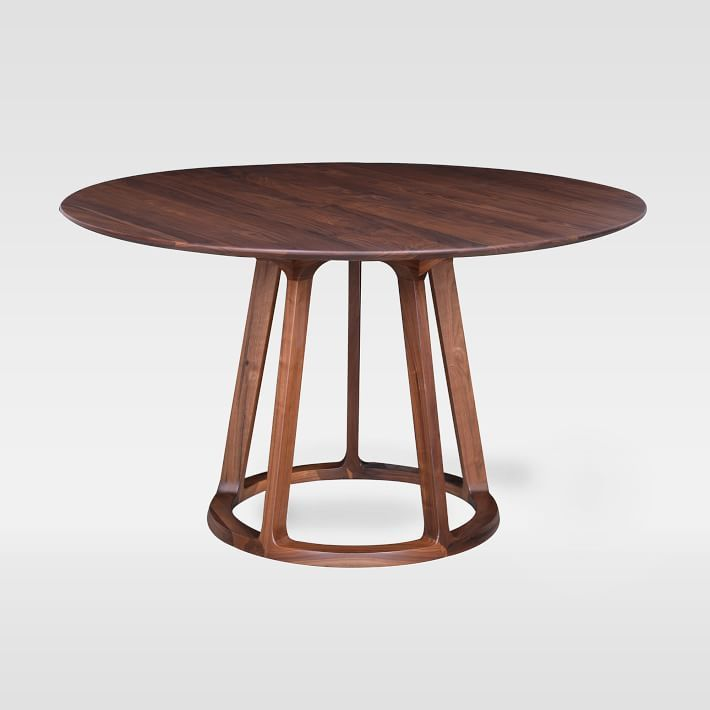 Open Pedestal Wood Round Dining Table Project Msk In
