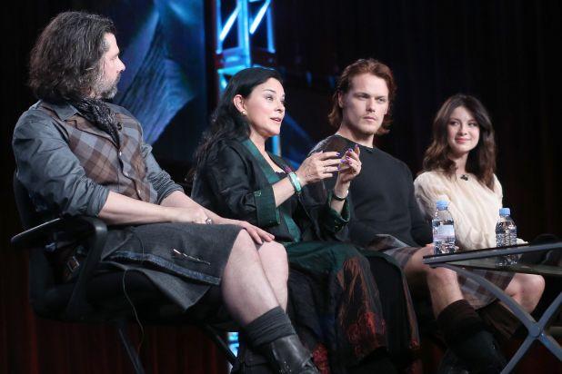 Outlander Cast and Crew with Diana Gabaldon