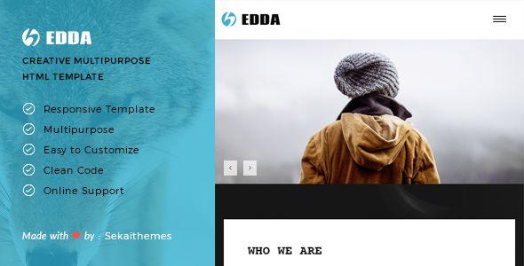Edda - Creative Portfolio and Multipurpose HTML Template Site Templates / Creative by Sekaithemes