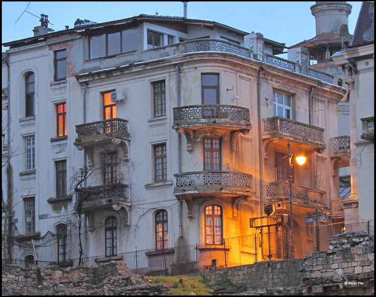 Balconies in Constanta old city