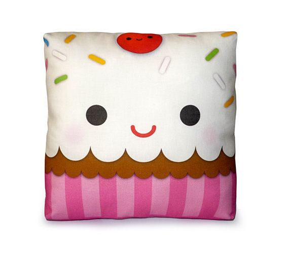 Mini cupcake pillow  will be cute in our internet cafe area.