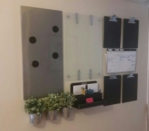I created this command center with all ikea items even for Ikea cork board