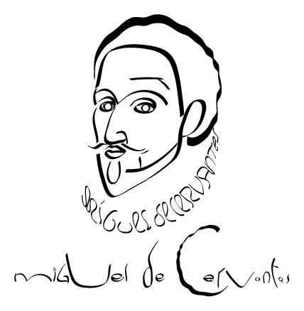 Miguel de Cervantes ~ in pinaocogram by Gilles Esposito-Farese
