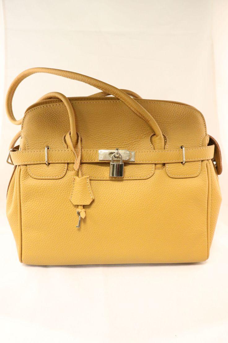 damestas, geel kleur. | DenBosch Fashion