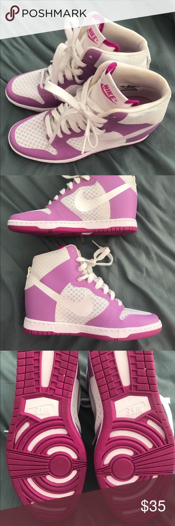 Nike Sky Hi Hidden Wedge Dunk Purple/pink Nike Dunk Size 8 Women's Hidden Wedge Sneaker Nike Shoes Wedges