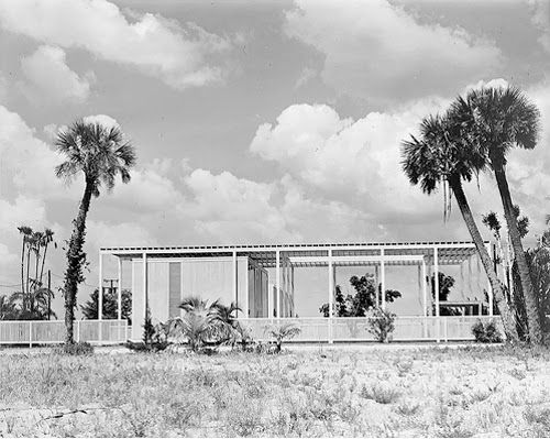 "Sarasota Architectural Foundation celebrates Rudolph's 95th Birthday | The Paul Rudolph Foundation -- ""Umbrella House"", Lido Shores, Florida. 1953."
