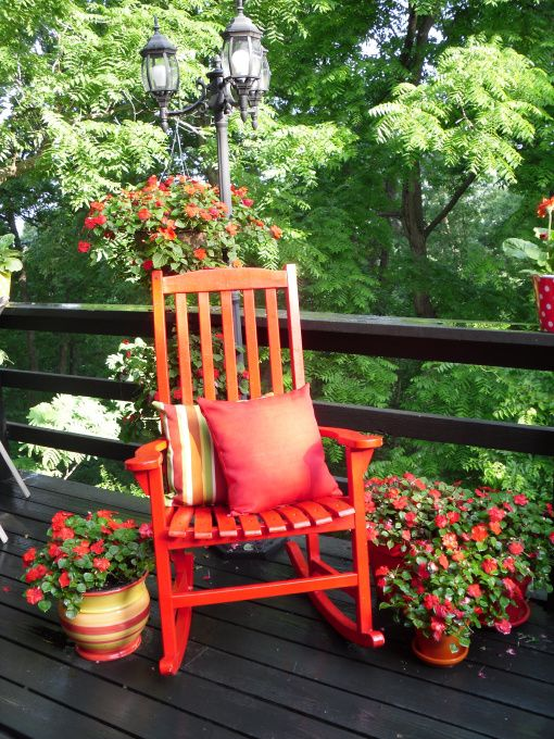 Red Rocking Chairs On Front Porch ~ Best images about rocking chairs on pinterest front