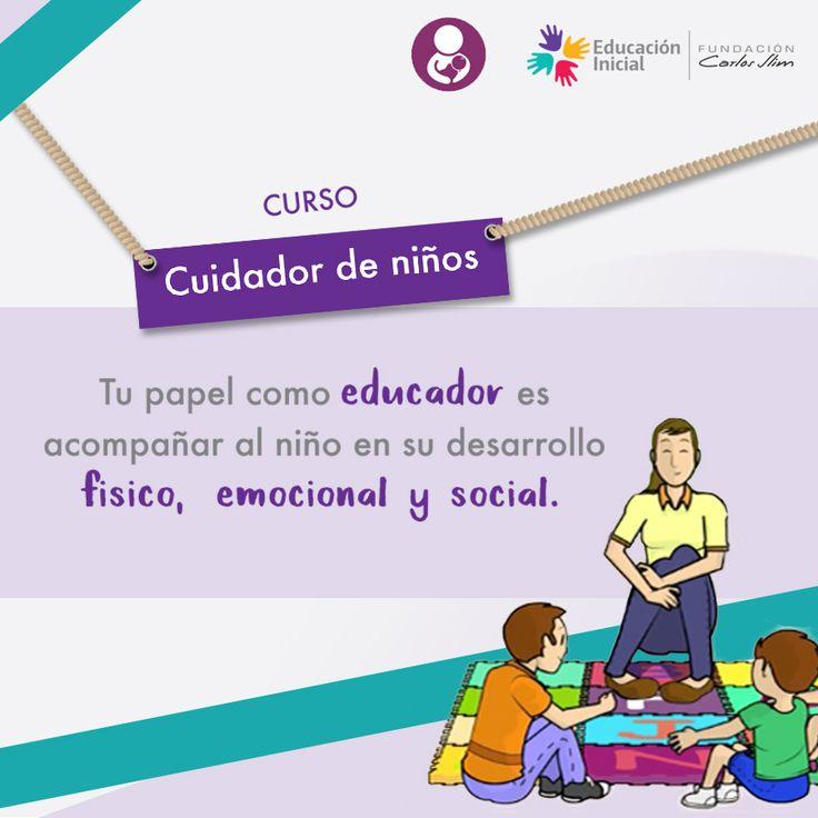#Curso en línea para #Educadores #Nanas #Cuidadores de niños obtén un diploma al terminar tu formación. #Gratis #ParaTodos