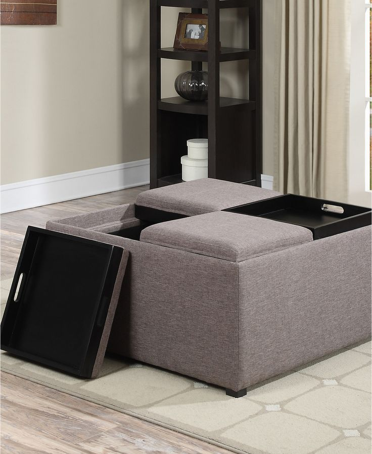 Avalon Fabric Coffee Table Storage Ottoman, Direct Ship - Furniture - Macy's - 25+ Best Ideas About Fabric Coffee Table On Pinterest Antique
