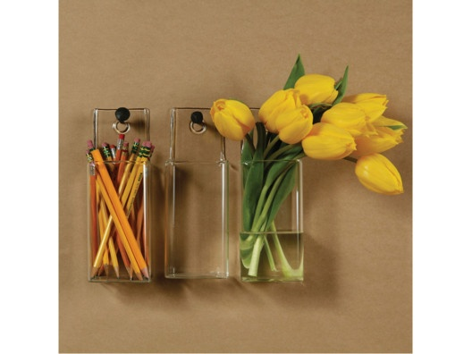 Glass Wall Pockets for flowers or organization.