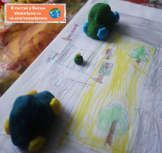 """Лепим машинки из домашнего плей-до - Наше творчество (лепка, рисование, аппликации)  - Блог """"В гостях у Весны"""" - В гостях у Весны"""