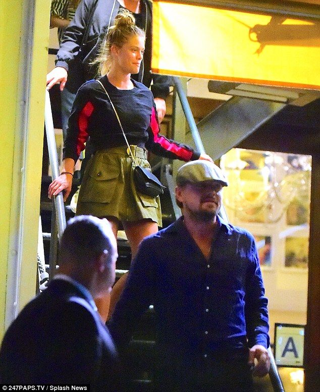 Date night: Meanwhile, Leonardo and Nina spent a romantic night in NYC the night before