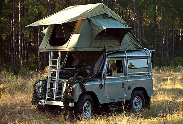 Green Land Rover Camper with roof tent ★ App for Land Rover or Range Rover ★ Land Rover Warning Lights guide, is now in App Store https://itunes.apple.com/us/app/land-rover-indicators-warning/id923728395?ls=1&mt=8 If you drive Land Rover you should have this app on your iPhone