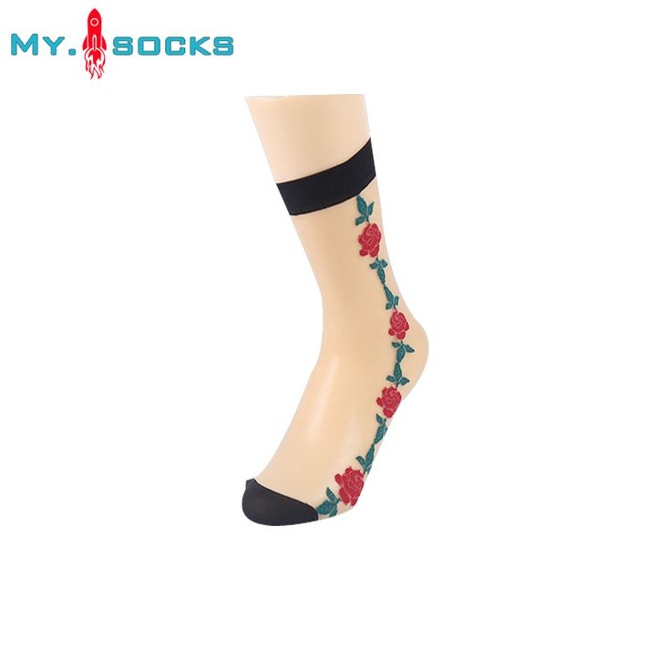 Hot 10 Pairs Summer Black Sexy Short Stocks Women Fashion Flower Out Short Sock Lady Ultra Thin Silk Girl Ankle Low Cut #Affiliate