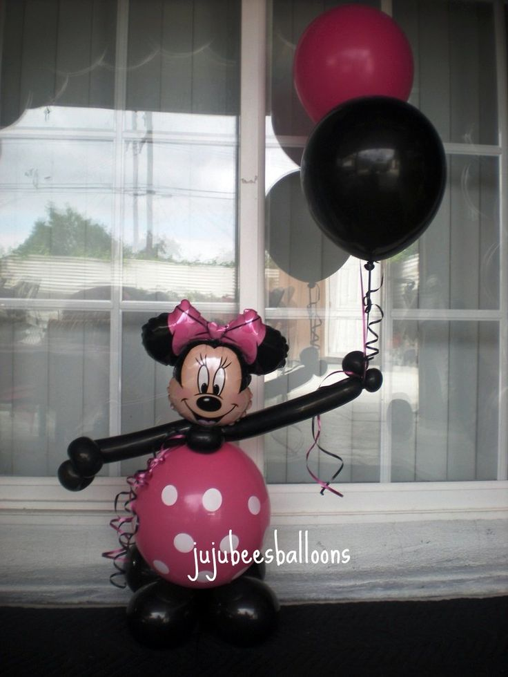 19 best balloons images on pinterest for Balloon decoration minnie mouse