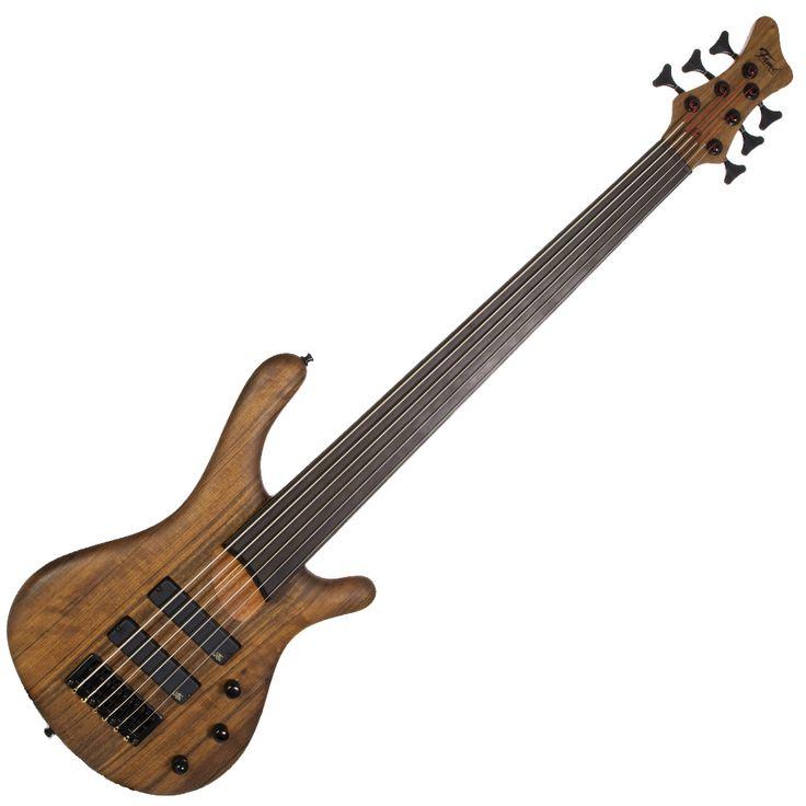 six string guitar notes fame baphomet 6 fretless 6 string bass guitar natural guitars. Black Bedroom Furniture Sets. Home Design Ideas
