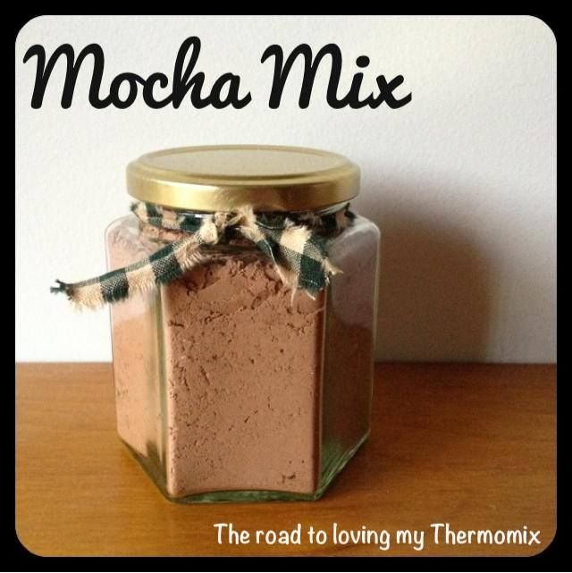 I posted my chocolate milk powder and my hot chocolate mix recently. Here is a mocha version. I dont drink coffee but my friends that do say this tastes nice.    This one is in cups rather than grams as I forgot to weigh them.    I used this link.