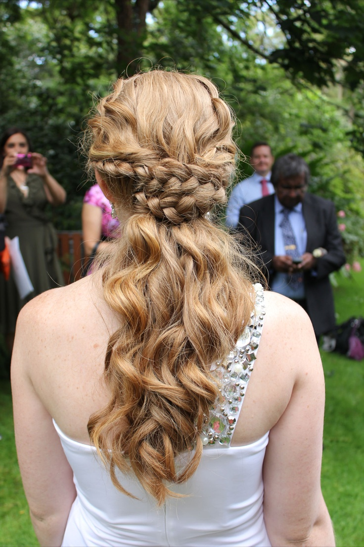 Soft curls and braids.