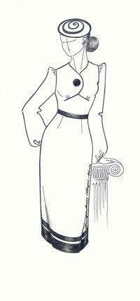 Перевод нагрудной вытачки в подрез под грудью (Выкройки своими руками) Еще один интересный вариант перемещения нагрудной вытачки в подрез под грудью.  Освоив такой прием в моделировании, как перемещение нагрудной вытачки, вы откроете для себя неограниченные возможности в создании новых фасонов одежды.