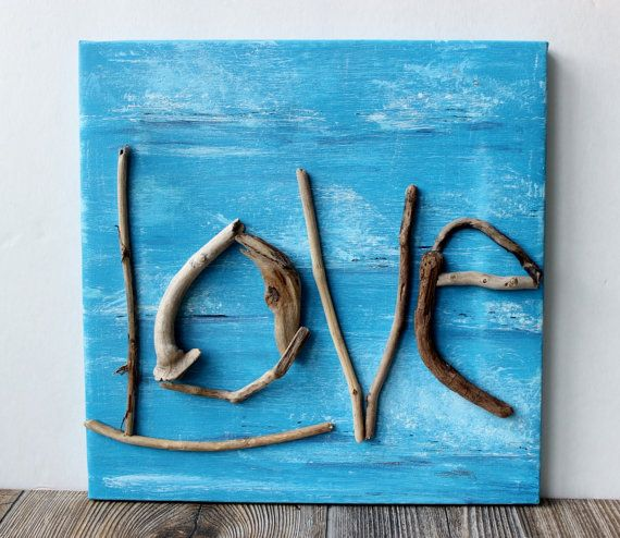 Hey, I found this really awesome Etsy listing at https://www.etsy.com/listing/247357508/driftwood-love-art-one-of-a-kind-beach