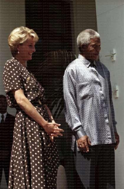 Lady Diana with Nelson Mandela.  Angels among us.                                                                                                                                                                                 Plus