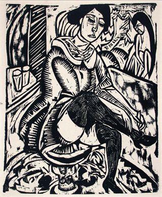 Ernst Ludwig Kirchner, 1912, woodcut