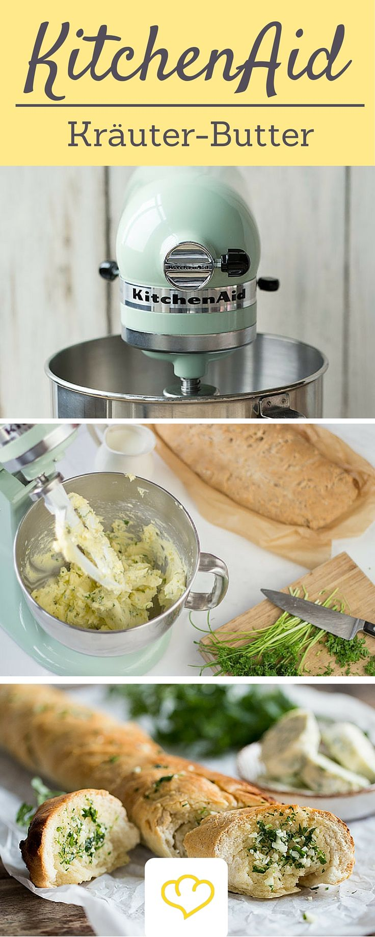 Auch zum Kräuterbutter machen ist die KitchenAid perfekt!