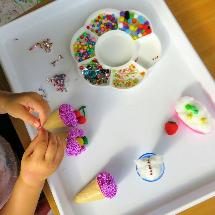 Icecream Decorating 🍦🍧 In the summer heat Miss 3 has been eating icecreams 😄 🍨 Inspired by @thecurious1plus1 and her use of cotton wool for cupcakes, I decided to offer cotton wool for icecream decorating 💗  Miss 3 cleverly initiated the use of moulding goo to fill up her icecream cones which worked perfectly! She had lots of fun decorating all her icecreams and hiding 'lollies' inside them 💕 #invitationtocreate #creativeplayideas #funwithkids #earlychildhood #earlychildhoodeducation…