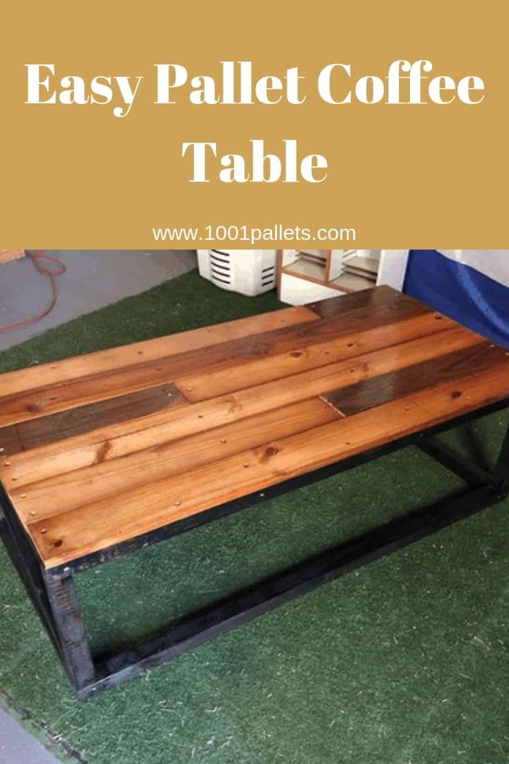 Easy Pallet Coffee Table 1001 Pallets Pallet Coffee Table Coffee Table Diy Coffee Table