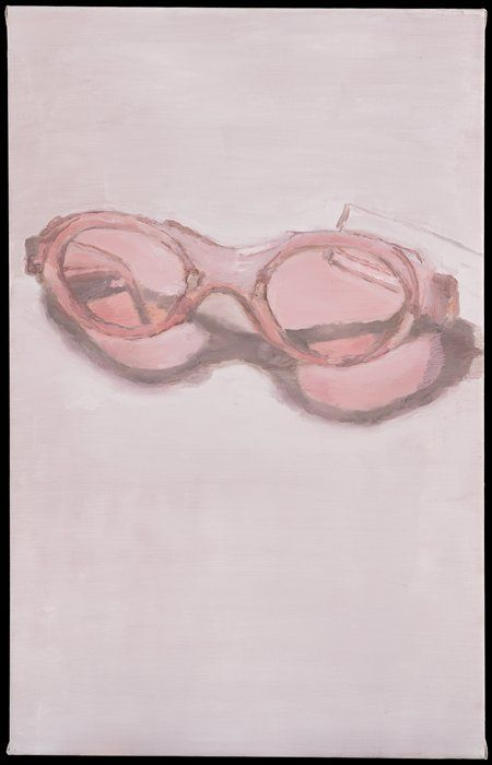 Luc Tuymans: Pink Glasses (2001).