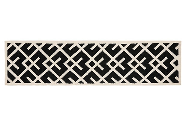 Diana Runner Black Ivory On Onekingslane Com Rug