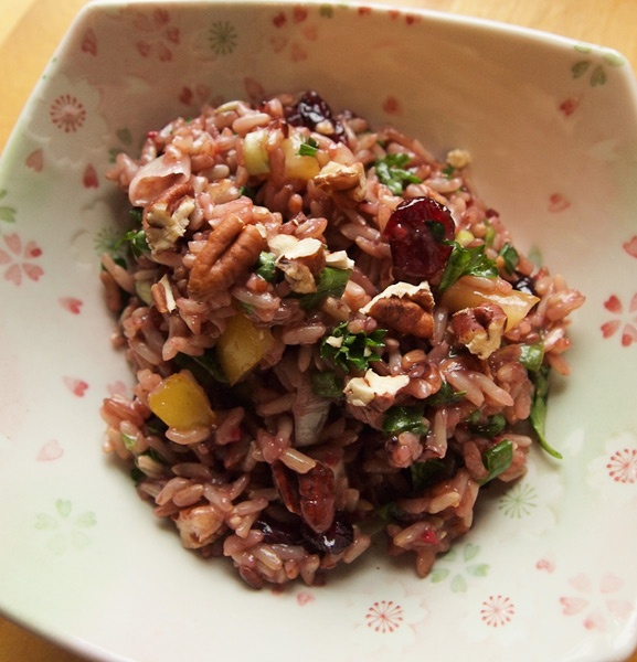 Wild Rice Salad with Pecans and Cranberries | Recipe