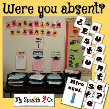 """Oh, the dreaded questions that students ask after being absent:  """"Did we do anything (important) yesterday?""""  """"What did I miss?""""  No teacher wants to deal with answering these questions at the beginning of class each day!  It takes up precious time and allows for disruption in the classroom and in the lesson."""