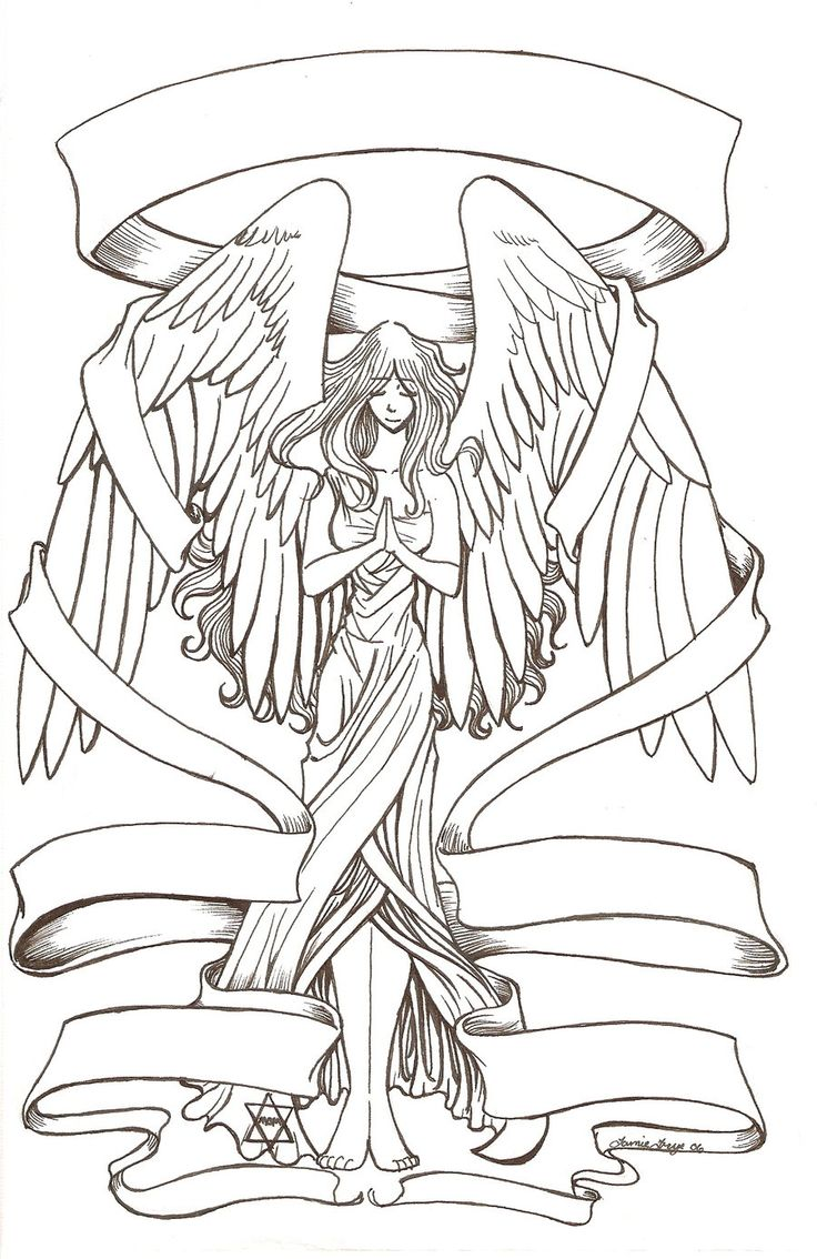 angel free tattoo stencil angel free tattoo designs for women angel free printable tattoo stencils - Coloring Pages Beautiful Angels