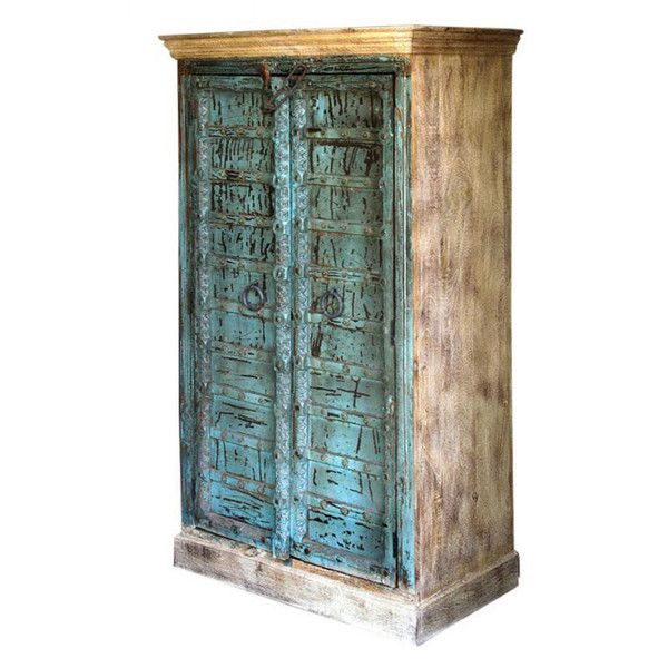 Turquoise Door Front Cabinet  http://www.theimporter.co.nz/collections/new